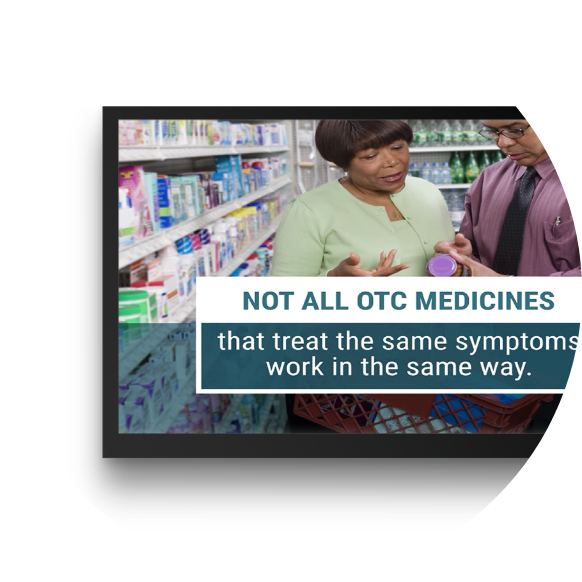 Not all OTC Medicines that treat the same symptoms work in the same way.