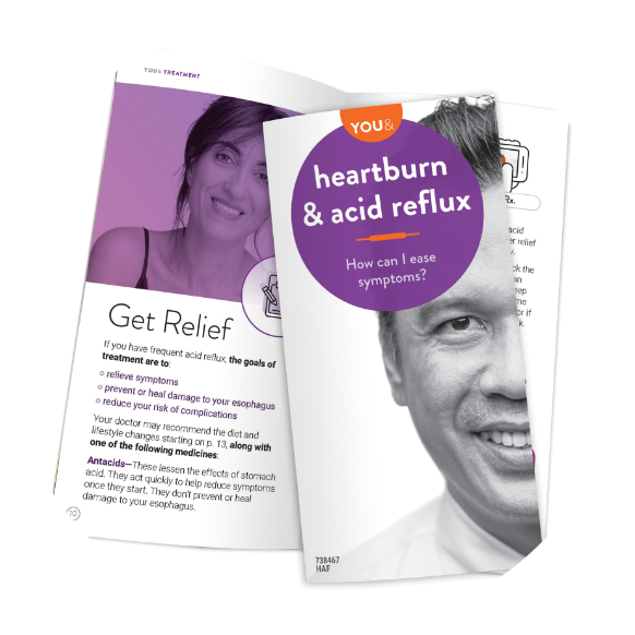Heartburn & acid reflux brochure. How can I ease symptoms?