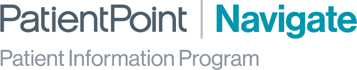 PatientPoint Navigate Patient Information Program logo