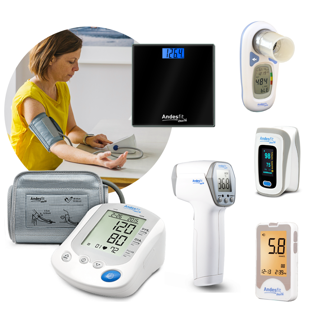 Woman using supported devices for Remote Patient Monitoring by PatientPoint.