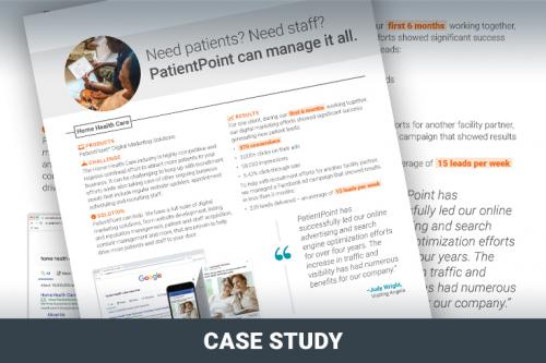 Need patients? Need staff? PatientPoint can manage it all.