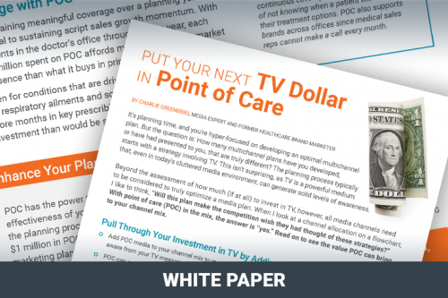 Put your next TV Dollar in Point of Care