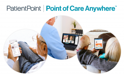PatientPoint Point of Care Anywhere collage